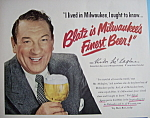 Click here to enlarge image and see more about item 12461: Vintage Ad: 1950 Blatz Beer w/ Victor McLaglen