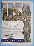 Click here to enlarge image and see more about item 12474: Vintage Ad: 1944 Greyhound