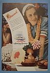 Click here to enlarge image and see more about item 12491: Vintage Ad: 1942 Matson Line To Hawaii