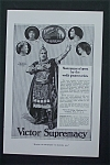 Click here to enlarge image and see more about item 1249: Vintage Ad: 1917 Victor Supremacy