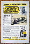 Vintage Ad: 1937 Goodrich Tires with Author Zane Grey