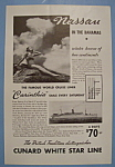 Click here to enlarge image and see more about item 12506: Vintage Ad: 1937 Cunard White Star Line