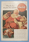 1938 Coca-Cola (Coke) with Santa Claus & Little Girl