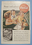 1938 Coca-Cola (Coke) with Women in a Car Drive-In