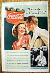 1939 Coca-Cola (Coke) with Man & Woman Talking