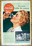 1939 Coca-Cola (Coke) with Woman Drinking Soda