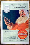 Click to view larger image of 1940 Coca-Cola (Coke) with Santa Claus & Soda (Image1)