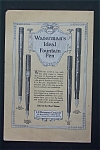1917 Waterman Ideal Fountain Pen with 4 Different Types