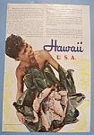 Click here to enlarge image and see more about item 12535: Vintage Ad: 1940 Hawaii