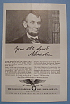 Click here to enlarge image and see more about item 12537: Vintage Ad: 1940 Lincoln National Life Insurance Co.