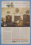 Click here to enlarge image and see more about item 12558: Vintage Ad: 1935 RCA Victor D - 22