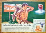 Click to view larger image of 1935 Coca-Cola (Coke) with Man Scratching His Head (Image1)