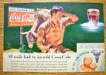 Click to view larger image of 1935 Coca-Cola (Coke) with Man Scratching His Head (Image2)