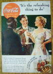 1936 Coca-Cola (Coke) with Black Waiter Serving Couple