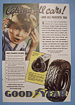 1936 Goodyear Tires with Little Boy with Headphones