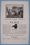 Click here to enlarge image and see more about item 12580: Vintage Ad: 1930 Bell & Howell Filmo