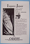 Click here to enlarge image and see more about item 12588: Vintage Ad: 1930 Canadian Orient Pacific