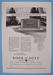 Click here to enlarge image and see more about item 12591: Vintage Ad: 1930 Rock Of Ages Corporation