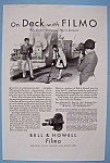 Click here to enlarge image and see more about item 12600: Vintage Ad: 1930 Bell & Howell Filmo