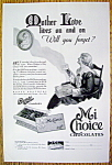 Click to view larger image of Vintage Ad: 1930 Mi Choice Chocolates (Bunte Candies) (Image1)