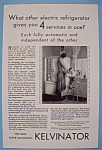 Click here to enlarge image and see more about item 12603: Vintage Ad: 1930 Kelvinator Refrigerator