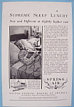 Click here to enlarge image and see more about item 12605: Vintage Ad: 1930 Spring Air Bedding