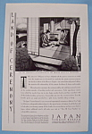 Click here to enlarge image and see more about item 12608: Vintage Ad: 1930 Japan Tourist Bureau