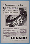 Click here to enlarge image and see more about item 12612: Vintage Ad: 1930 Miller Tires