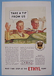 Click here to enlarge image and see more about item 12624: Vintage Ad 1933 Ethyl Gasoline