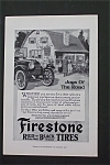1916 Firestone Red-Black Tires with Car in Front of Inn