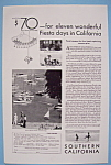 Click here to enlarge image and see more about item 12637: Vintage Ad: 1931 Southern California