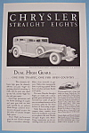Vintage Ad: 1931 Chrysler Straight Eight