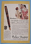Click here to enlarge image and see more about item 12656: Vintage Ad: 1931 Parker Duofold Pen