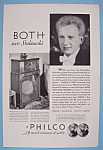 Click here to enlarge image and see more about item 12661: Vintage Ad: 1932 Philco Radio w/ Leopold Stokowski