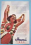 Click here to enlarge image and see more about item 12670: Vintage Ad: 1941 Hawaii