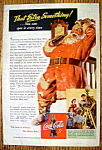 1942 Coca-Cola with Santa Claus & Bottle of Coke