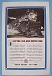 Click here to enlarge image and see more about item 12683: Vintage Ad: 1943 Union Pacific Railroad