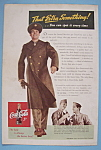 Click here to enlarge image and see more about item 12684: Vintage Ad: 1943 Coca - Cola