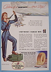 Click here to enlarge image and see more about item 12685: Vintage Ad: 1943 General Tire