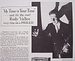 Click here to enlarge image and see more about item 12695: Vintage Ad: 1933 Philco with Rudy Vallee