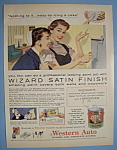 1956 Wizard Satin Finish Paint with Woman Painting Wall