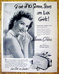 Vintage Ad: 1948 Lux Toilet Soap with Maureen O' Hara