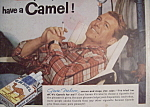 Click to view larger image of Vintage Ad: 1955 Camel Cigarettes w/Gene Nelson (Image1)