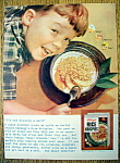 Click to view larger image of 1955 Kellogg's Rice Krispies Cereal w/Boy Listening (Image1)
