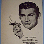 Click here to enlarge image and see more about item 12752: Vintage Ad: 1951 Cigars w/ Jeff Chandler