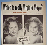 Click to view larger image of Vintage Ad:1951 Auto - Lite Spark Plugs w/Virginia Mayo (Image1)