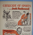 Click here to enlarge image and see more about item 12754: Vintage Ad: 1951 Gillette Razor w/ Jack Redmond