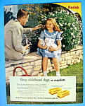 Click here to enlarge image and see more about item 12757: Vintage Ad: 1949 Kodak