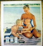 Click to view larger image of 1955 Johnson's Baby Oil, Lotion & Powder w/Woman & Kids (Image2)