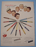 Click here to enlarge image and see more about item 12773: Vintage Ad: 1955 Paper Mate Pens